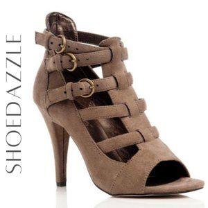 SHOEDAZZLE Graciela Gladiator-Style Heels, 9M